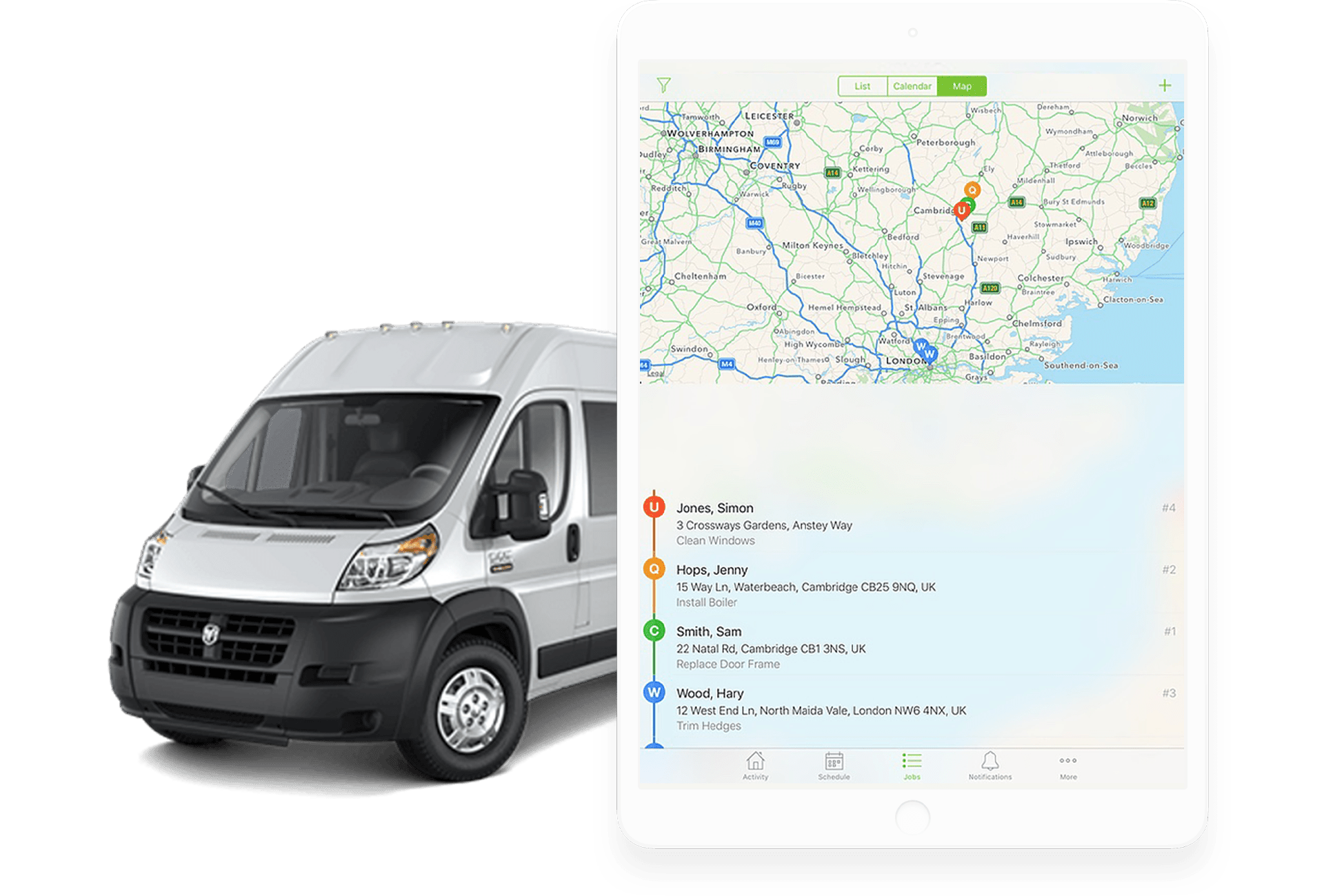ServiceM8 on the road